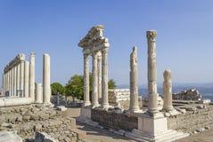 Città dell'oggetto d'antiquariato di Akropolis, Pergamon Fotografia Stock Libera da Diritti