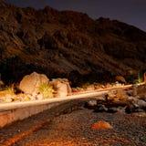 Città dell'Oman, cascata dello shaab dei wadi Fotografia Stock Libera da Diritti