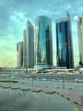 Città dell'orizzonte di Doha fotografie stock libere da diritti