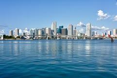 Città dell'orizzonte di Miami Fotografia Stock