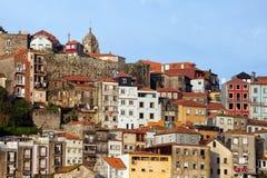 Città dell'orizzonte di Oporto nel Portogallo Immagini Stock