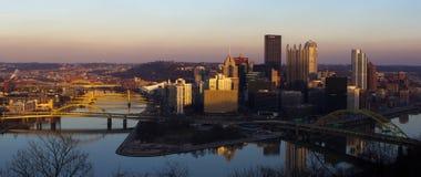 Città dell'orizzonte di Pittsburgh Immagini Stock Libere da Diritti