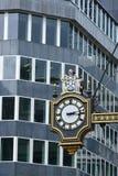 Città dell'orologio della via di Londra Immagini Stock
