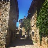 Città della casa Ain del villaggio della Francia del médiévale di Perouges vecchia Fotografia Stock Libera da Diritti