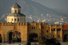 Città della cattedrale di Sameba fotografia stock