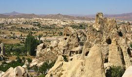 Città della caverna in Capapdocia, Turchia immagini stock