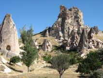 Città della caverna di Goreme in Turchia Immagini Stock Libere da Diritti