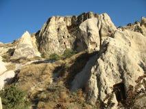Città della caverna di Goreme in Turchia Fotografie Stock Libere da Diritti