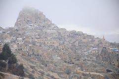 Città della caverna di Nevsehir in Cappadocia Fotografia Stock Libera da Diritti