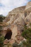 Città della caverna di Ortahisar in Cappadocia - abbellisca, la Turchia Fotografia Stock