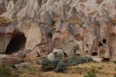 Città della caverna di Ortahisar in Cappadocia - abbellisca, la Turchia Fotografie Stock