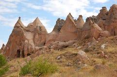 Città della caverna di Ortahisar in Cappadocia - abbellisca, la Turchia Fotografia Stock Libera da Diritti