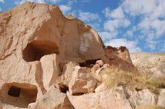 Città della caverna di Ortahisar in Cappadocia - abbellisca, la Turchia Fotografie Stock Libere da Diritti