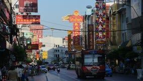 Città della Cina a Bangkok ed il traffico quotidiano fotografia stock