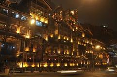 Città della Cina Chongqing, nuovo anno cinese Fotografie Stock