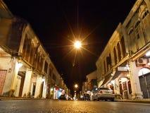 Città della città di notte, Phuket di costruzione Immagine Stock Libera da Diritti