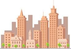 Città della costruzione di vettore del fumetto Fotografia Stock