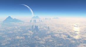 Città della fantascienza Immagini Stock