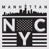 Città della maglietta NY Fotografia Stock