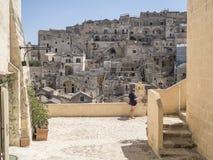 Città della materia in Italia del sud Fotografia Stock