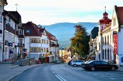 Città della montagna fotografie stock