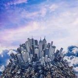 Città della montagna di luce solare Fotografie Stock