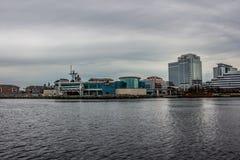Città della Norfolk la Virginia dal canale navigabile Intercoastal fotografia stock