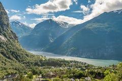 Città della Norvegia Odda fotografie stock