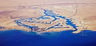Città della perla di Khiran - Kuwait Immagini Stock Libere da Diritti