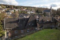 città della Renania Germania dello stolberg vecchia Fotografie Stock Libere da Diritti
