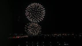 Città della Russia Astrakan di notte di saluto video d archivio