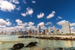 Città della spiaggia Fotografia Stock