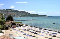Città della spiaggia della città di Balchik in Bulgaria Immagini Stock Libere da Diritti