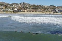 Città della spiaggia di Pismo fotografia stock
