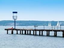Città della spiaggia di PortoRose sul mare adriatico, Slovenia, Europa Immagini Stock