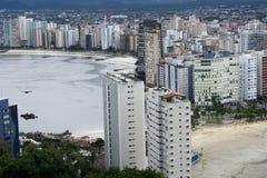 Città della spiaggia di Vicente del sao immagine stock libera da diritti