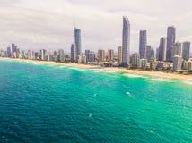Città della spiaggia fotografie stock