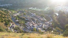 Città della stazione di Alora osservata da sopra Immagine Stock Libera da Diritti