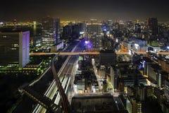 Città della vista di notte di Tokyo Fotografia Stock