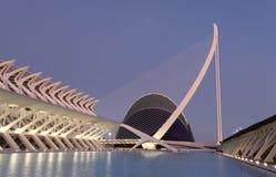 Città delle arti e delle scienze, Valencia Fotografie Stock Libere da Diritti