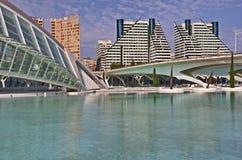 Città delle arti e delle scienze a Valencia Immagine Stock