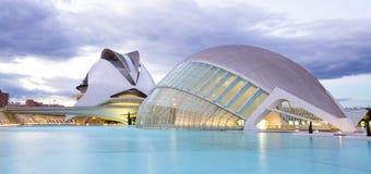 Città delle arti e delle scienze a Valencia, Spagna fotografia stock