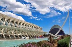 Città delle arti e delle scienze, Valencia, Spagna Fotografie Stock Libere da Diritti
