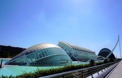 Città delle arti e delle scienze, Valencia fotografia stock libera da diritti