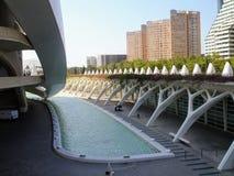 Città delle arti e delle scienze a Valencia, Spagna fotografia stock libera da diritti