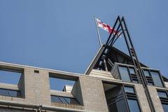 Città delle bandiere di Montreal Immagine Stock