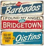 Città delle Barbados e destinazioni di viaggio royalty illustrazione gratis