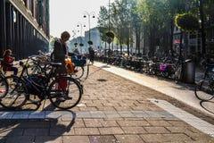 Città delle biciclette Fotografie Stock