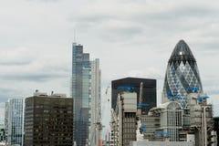 Città delle costruzioni di Londra (distretto finanziario), Regno Unito Fotografia Stock Libera da Diritti