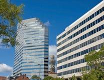 città delle costruzioni moderna Fotografia Stock Libera da Diritti